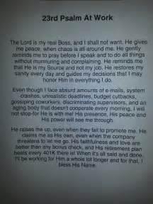 23 Psalms Prayer Work