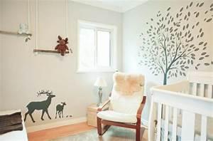 Chambre Bebe Design Scandinave : stickers pour la chambre de b b arbre ~ Teatrodelosmanantiales.com Idées de Décoration