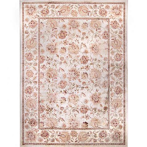 verona floral rug  creampeach bed bath