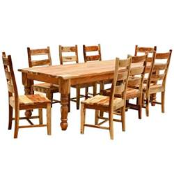 Wood Dining Room Sets Rustic Solid Wood Farmhouse Dining Room Table Chair Set