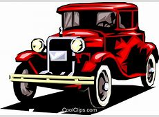 Classic cars Royalty Free Vector Clip Art illustration