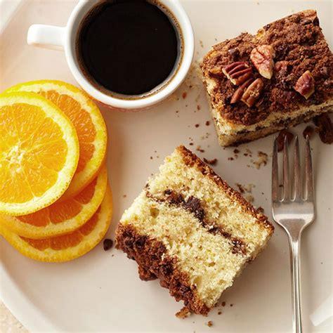 sour cream orange coffee cake  chocolate streusel