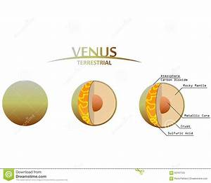 Venus Layers Clipart With Infographics Terrestrial Planet ...