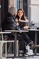 Anya Taylor-Joy and Eoin Macken seen outside a restaurant ...