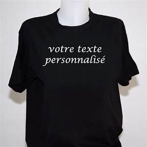 Tee Shirt A Personnaliser : tee shirt femme a personnaliser t shirt noir ~ Dallasstarsshop.com Idées de Décoration