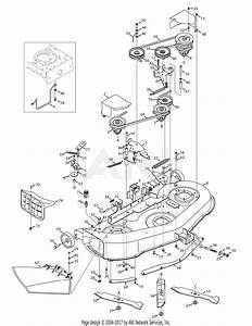 Mtd 13al605h057  2009  Parts Diagram For Mowing Deck 46 Inch
