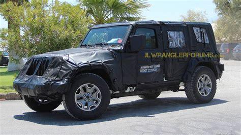 jl jeep diesel new jeep wrangler jl front grille spy photos