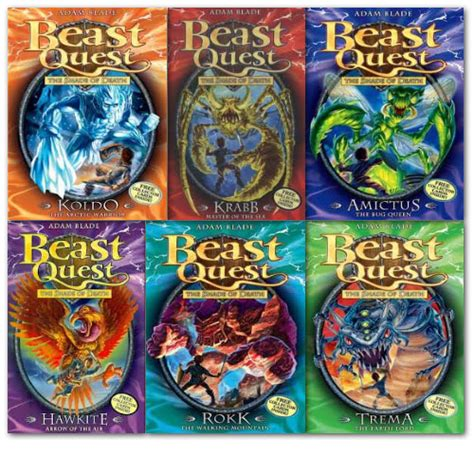 A Bundle Of 5 Book Series by Beast Quest Pack Series 5 6 Books By Adam Blade