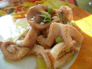 cuisiner les poulpes poulpes en vinaigrette recette iterroir