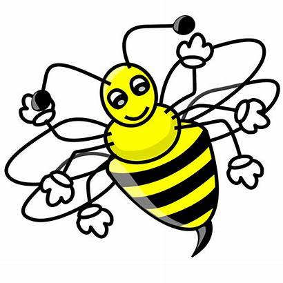 Funny Clipart Bee Clip Peas Eyed Cabbage