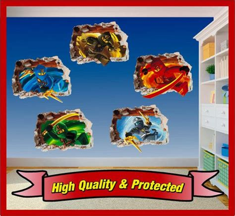 Ninjago Kinderzimmer Ideen by Lego Ninjago Set Loch In Der Wandkunst Aufkleber