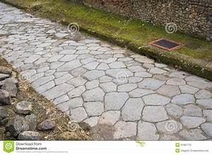 Ancient Roman Road Stock Image  Image Of Pavement  Cobblestone