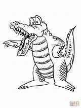 Alligator Coloring Cartoon Pages Wallykazam Printable Crocodile Alligators Gar Drawing Getcolorings American Getcoloringpages Dot Animal Categories sketch template
