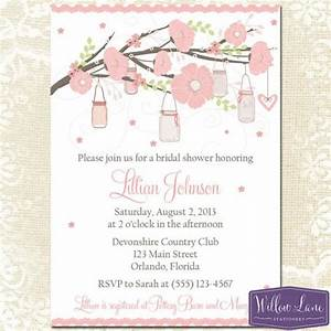 bridal shower invitation hanging mason jar bridal shower With hanging mason jar wedding invitations