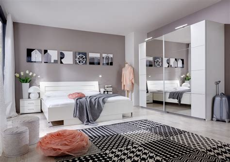 chambre adulte moderne design chambre adulte complète design coloris blanc alpin mavrick