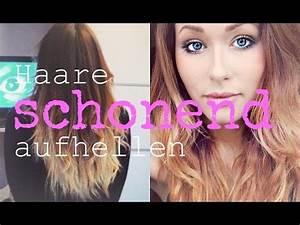 Gefärbte Haare Natürlich Aufhellen : haare schonend aufhellen mit kokos l pre oiling youtube ~ Frokenaadalensverden.com Haus und Dekorationen