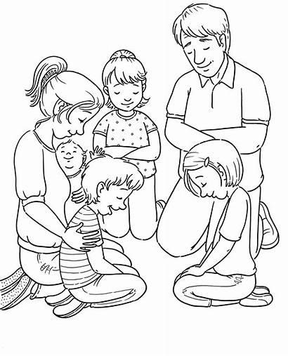 Praying Coloring Prayer Lds Children Pray Line