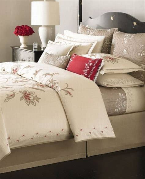 martha stewart dreamtime floral embroidered duvet cover