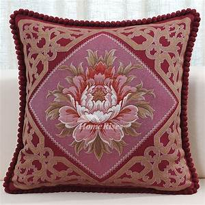 luxury vintage red floral velvet best throw pillows for couch With best prices on throw pillows