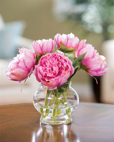 capture permanent garden beauty  peony silk flower
