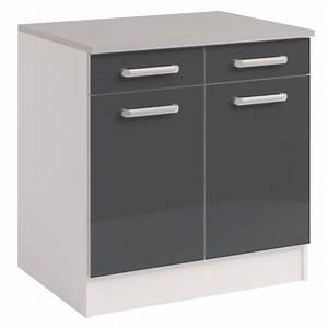 Meuble Bas Porte : meuble bas cuisine 3 portes pas cher mobilier design ~ Edinachiropracticcenter.com Idées de Décoration