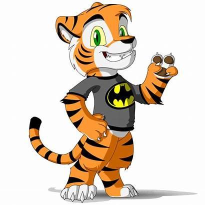 Tiger Mascot Young Clipartbest Cartoon Stuffs Batman