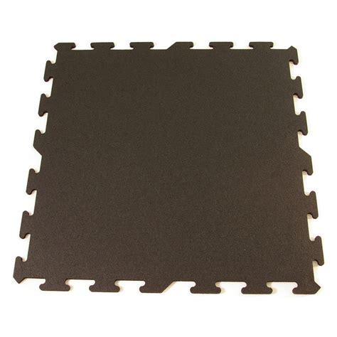 Greatmats Rubber Flooring Interlocking Tiles New Black 8