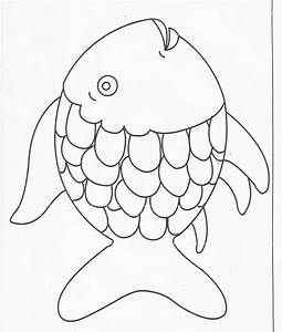 rainbow fish coloring page free large images With rainbow fish colouring template
