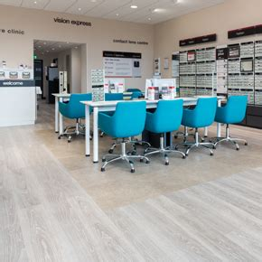 commercial vinyl flooring installed at vision express store