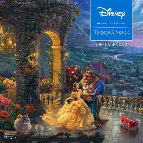 kinkade disney collection wall calendar