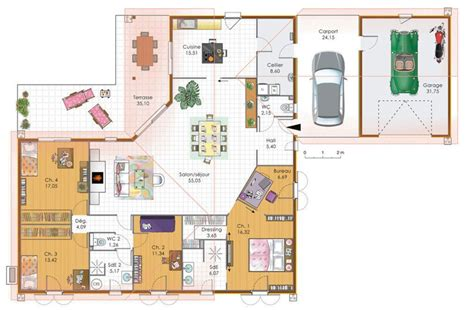 etag e bureau grande maison 4 chambres avec terrasse garage et carport