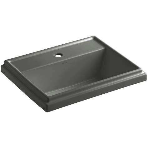 kohler tresham vanity sink kohler tresham drop in vitreous china bathroom sink in