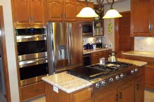 kitchen island with stove offering quality work on any kitchen remodel projects