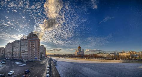posters cuisine beautiful views of moscow on a frosty day russia travel