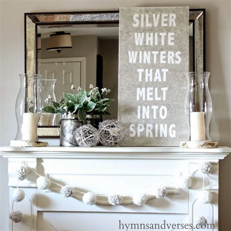 Decorating Ideas Mantel by Winter Mantel And Winter Shelf Decorating Ideas