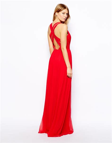 lyst mango cross  maxi dress  red
