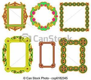 Ensemble Cadre Photo : ensemble cadre ornement arabe fleur multi color clipart vectoriel rechercher ~ Teatrodelosmanantiales.com Idées de Décoration