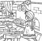 Coloring Pages Kitchen Baking Bread Utensils Bakery Table Dinner Printable Delicious Getcolorings Safety sketch template