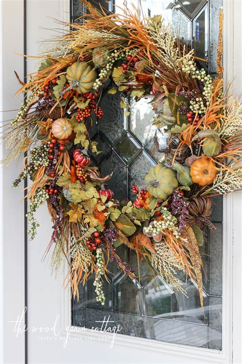 Diy Fall Wreath  The Wood Grain Cottage