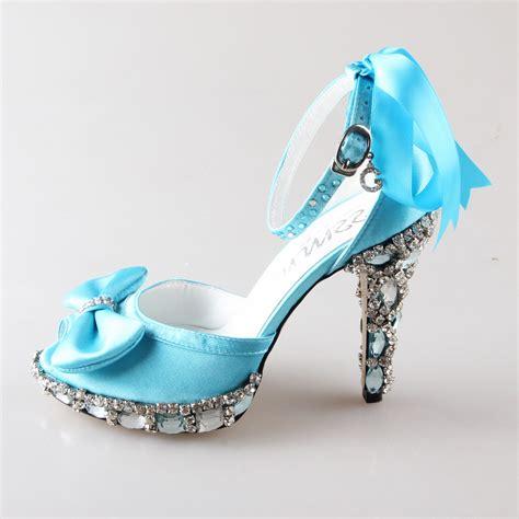 blue wedding shoes handmade light sky baby blue d orsay peep open toe 1961