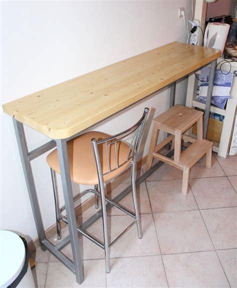 table de cuisine pratique création d 39 une table bar cuisine bâtir sa maison à