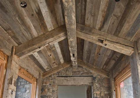 photo  gray barnwood ceiling