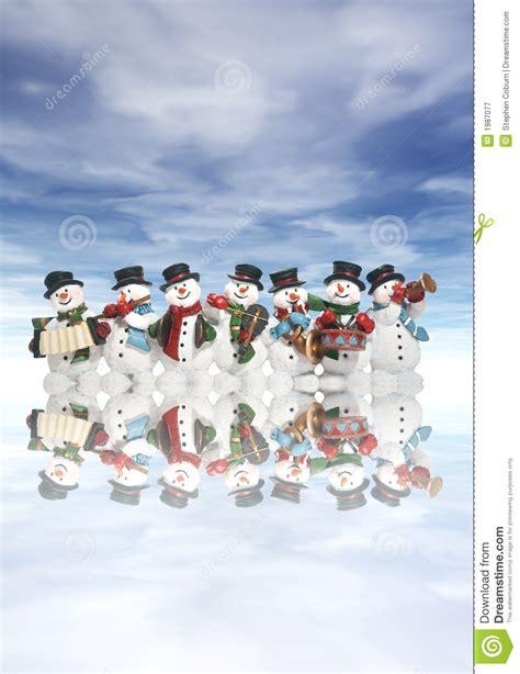 snowmen  musical instruments royalty  stock
