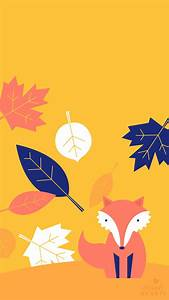 Design Text Over Image Fall Leaf And Fox October 2017 Calendar Wallpaper