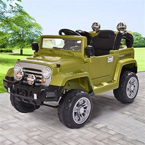 Jaxpety 12v Jeep Style Kids Ride On Truck Battery Powered