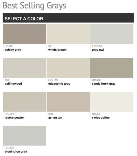 best selling popular shades of gray light neutral