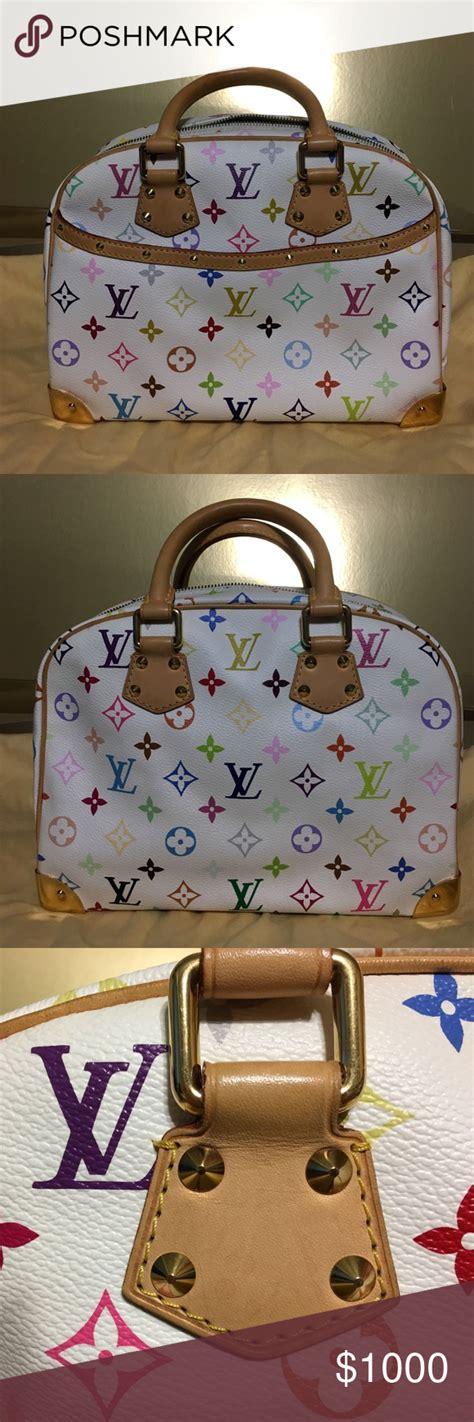 price louis vuitton white multicolore trouville louis vuitton louis vuitton bag lady dior bag
