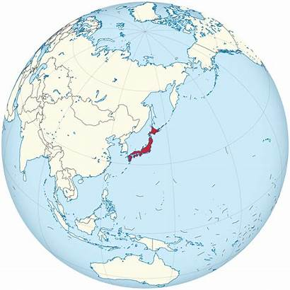 Globe Japan Centered Svg Map Earth Highlighted