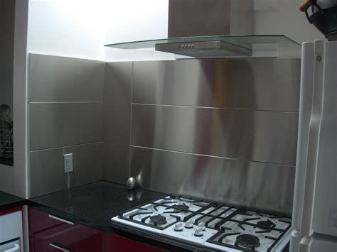 Do It Yourself Kitchen Backsplash Ideas - stainless steel backsplash panel