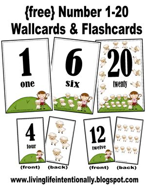 Free Number Wallcards And Flashcards
